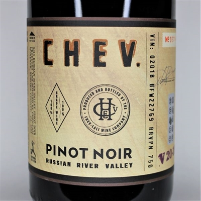 750ml bottle of 2018 Chev Pinot Noir Russian River Valley Sonoma California