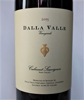 750ml bottle of 2015 Dalla Valle Estate Cabernet Sauvignon from the Oakville AVA of Napa Valley California