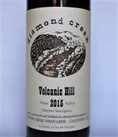 750ml bottle of 2015 Diamond Creek Vineyards Volcanic Hill Cabernet Sauvignon from the Diamond Mountain AVA of Napa Valley California
