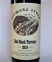 750ml bottle of 2016 Diamond Creek Vineyards Red Rock Terrace Cabernet Sauvignon from the Diamond Mountain AVA of Napa Valley California