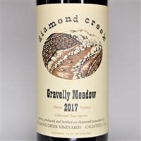 750ml bottle of 2017 Diamond Creek Vineyards Gravelly Meadow Cabernet Sauvignon from the Diamond Mountain AVA of Napa Valley California