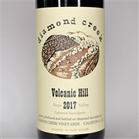 750ml bottle of 2017 Diamond Creek Vineyards Volcanic Hill Cabernet Sauvignon from the Diamond Mountain AVA of Napa Valley California