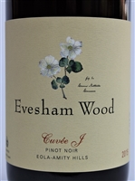 750ml bottle of 2015 Evesham Wood Pinot Noir Cuvee J from the Eola-Amity Hills of the Willamette Valley in Oregon
