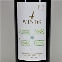 750ml bottle of 2016 4 Winds Cabernet Sauvignon from the Stags Leap District AVA of Napa Valley California