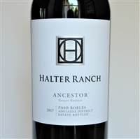 750 ml bottle of Halter Ranch Ancestor Estate Reserve 2017 Red Wine Blend from Paso Robles California