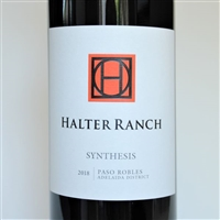750ml bottle of 2018 Halter Ranch Synthesis red wine blend from Paso Robles California