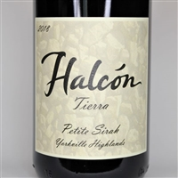 750ml bottle of 2018 Halcon Vineyards Estate Petite Sirah Tierra from the Theopolis Vineyard in Yorkville Highlands of Mendocino County California