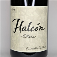 750ml bottle of 2018 Halcon Vineyards Alturas Syrah from the Yorkville Highlands of Mendocino County California
