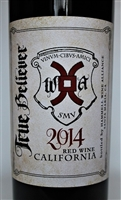 750ml bottle of 2014 Hammell Wine Alliance True Believer Cuvee a red wine blend of Syrah Grenache Mourvedre Petite Sirah Viognier and Roussanne from the Santa Maria Valley of California