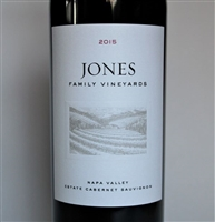 750ml bottle of 2015 Jones Family Estate Cabernet Sauvignon from Napa Valley California