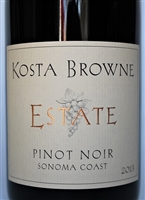 750ml bottle of 2013 Kosta Browne Estate Pinot Noir from the Sonoma Coast and Russian River Valley of Sonoma County California