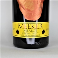 750ml bottle of 2015 Meeker Winemaker's Handprint Merlot from Sonoma County California