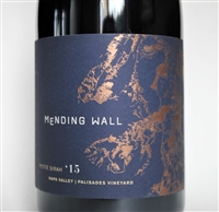 750ml bottle of 2015 Mending Wall Palisades Petite Sirah from the Calistoga AVA of Napa Valley California