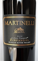 750ml bottle of 2015 Martinelli Jackass Vineyard Zinfandel red wine from Sonoma California
