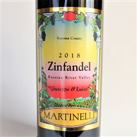 750 ml bottle of Martinelli Giuseppe & Luisa Zinfandel red wine from Russian River Valley Sonoma California