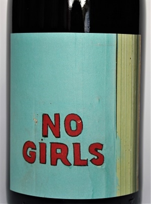 750ml bottle of 2012 No Girls Syrah from the La Paciencia Vineyard in Walla Walla Valley of Washington State