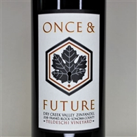 750ml bottle of 2018 Once and Future Teldeschi Vineyard Frank's Block Zinfandel from the Dry Creek Valley AVA of Sonoma County California
