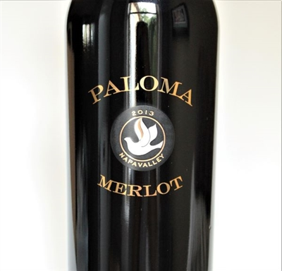 750ml bottle of 2013 Paloma Vineyards Merlot from the Spring Mountain District of Napa Valley California