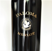750ml bottle of 2015 Paloma Vineyards Merlot from the Spring Mountain District of Napa Valley California