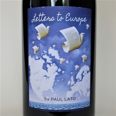 750ml bottle of 2016 Paul Lato Letters to Europe Syrah Grenache red wine blend from Santa Barbara County California