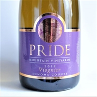 750ml bottle of 2019 Pride Mountain Vineyards Viognier from Sonoma County California