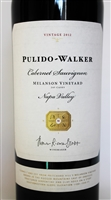 750 ml bottle of Pulido Walker Melanson Vineyard Cabernet Sauvignon from Pritchard Hill in the St Helena AVA of Napa Valley California