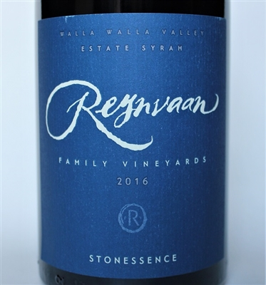 750ml bottle of 2016 Reynvaan Stonessence Esate Syrah from the Walla Walla Valley of Washington state