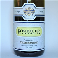 750ml bottle of 2018 Rombauer Chardonnay from the Carneros regions of Napa Valley California