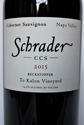 750 ml bottle of 2015 Schrader Cellars CCS Beckstoffer To Kalon Vineyard Cabernet Sauvignon from Napa Valley in California