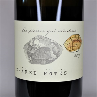 750ml bottle of 2019 Shared Notes Les Pierres Qui Decident sauvignon blanc from the Russian River Valley of Sonoma County California