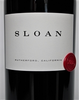 750ml bottle of 2014 vintage Sloan Estate proprietary red wine blend of Cabernet Sauvignon and Merlot from the Rutherford AVA of Napa Valley California