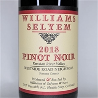 750ml bottle of 2018 Williams Selyem Westside Road Neighbors Pinot Noir from the Russian River Valley AVA of Sonoma County California