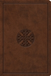 ESV Study Bible (Personal Size TruTone, Brown, Mosaic Cross Design)