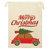 Merry Christmas Santa Sack Car with Christmas Tree on top