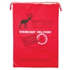 Merry Christmas Santa Sack printed with Red North Pole Post Office