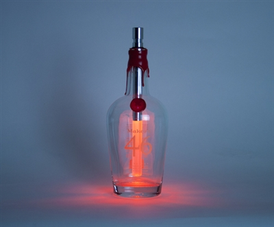 Colored bottle light fits into a wine, champagne or spirit bottle. Changes to any color as rotated or can be white.
