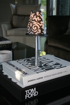 LED Accent Lamp with interchangeable paper shades by di Potter