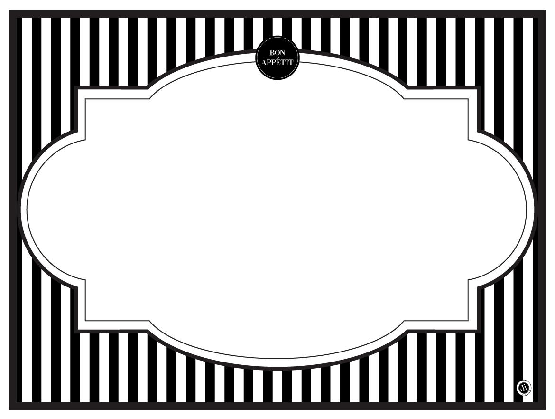 modern menu placemats. Black Bedroom Furniture Sets. Home Design Ideas
