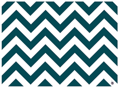 Morocco Placemats by di Potter Reversible Chevron Pattern Teal Blackberry White double sided recyclable paper