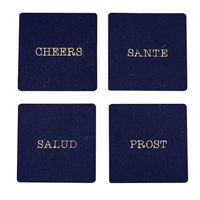 Cheers Wool Coaster set of 4