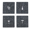 Wine Tools Wool Coaster Charcoal set of 4