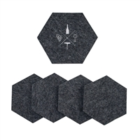 Wool Wine Tasting Coasters Charcoal set of 5