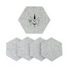 Wool Wine Tasting Coasters Light Gray set of 5
