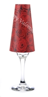 Set of six Happy Valentine's Day paper champagne glass shades. Available in Rose Pattern.  Made in the USA.