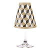 Modern Geometric Cube Paper White Wine Glass Shades
