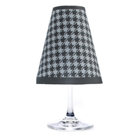Houndstooth Red Wine Glass Shades Party Pack Black and White