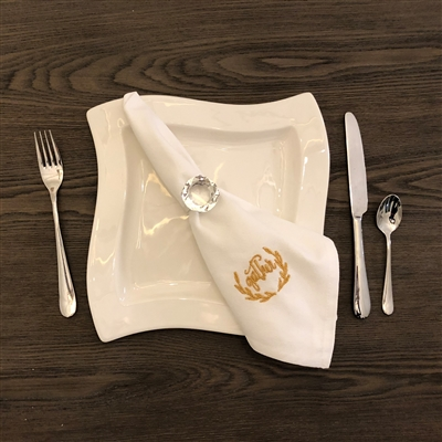 Gather Gold Metallic Embroidered Napkin Set of 4