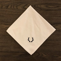 Antler Black Embroidered Napkin Set of 4