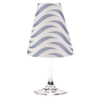 Waves translucent paper white wine glass shades by di Potter available in fog gray, sea blue and whitewash.  Made in the USA. For use with a flameless tea light.