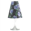 Floral Periwinkle pattern translucent paper white wine glass shades.    Made in the USA.